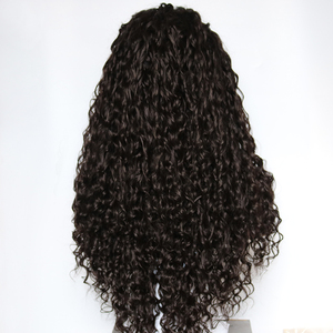 Image 5 - Fantasy Beauty 180% Heavy Density Water Wave Synthetic Lace Front Wig Heat Resistant Fiber Long Loose Curly Wigs For Women