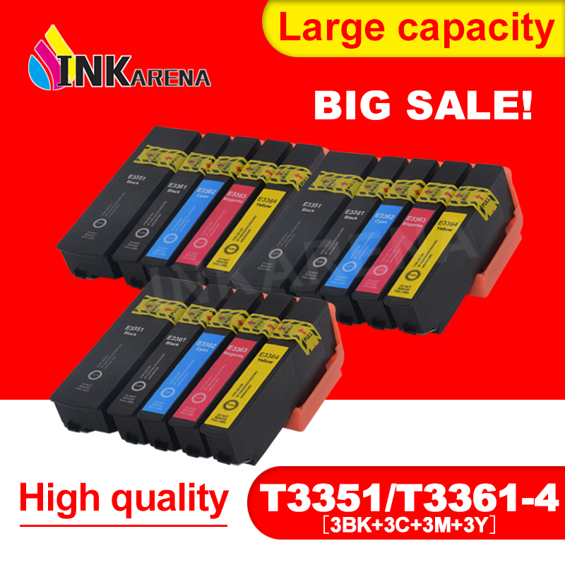 3 Pack 33 33XL T3351 Full Ink Cartridges Compitalbe For Epson XP 900 830 645 640 635 630 540 530 Printer Inkjet Cartridge3 Pack 33 33XL T3351 Full Ink Cartridges Compitalbe For Epson XP 900 830 645 640 635 630 540 530 Printer Inkjet Cartridge