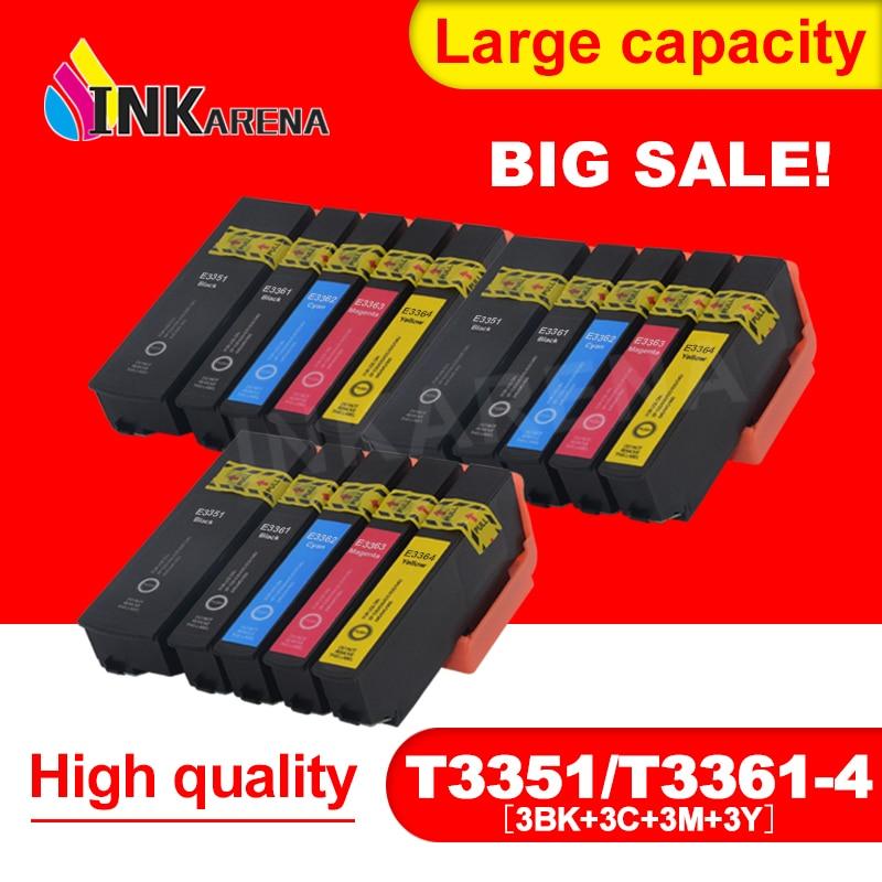3 Pack 33 33XL T3351 Full Ink Cartridges Compitalbe For Epson XP 900 830 645 640 635 630 540 530 Printer Inkjet Cartridge