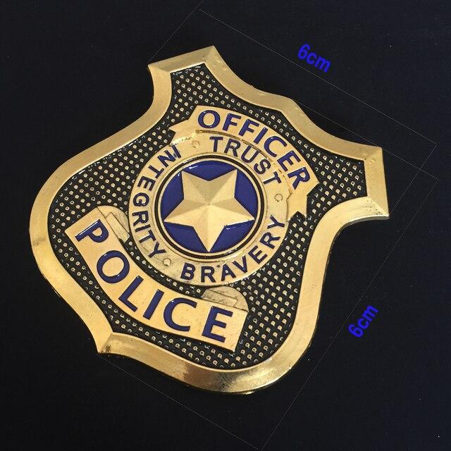 Cos ZOOTOPIA Officer Judy Hopps Cosplay Props Alloy Badge Brooch Police  Animal Bunny Judy Badge dcd4137b0fd5