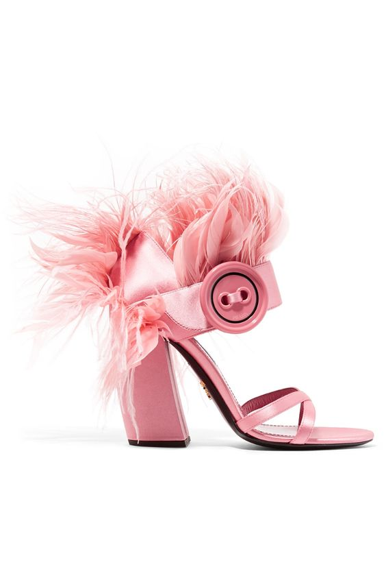 Hot Selling Feather Tassel Thick Heels Sandal for Woman 2018 Fashion Runway Open Toe High Heel Shoe Cutout Rome Style Sandal stylesowner lady summer sandal shoe thick sole open toe pearl bottom roman sandal buckle cool shoe female