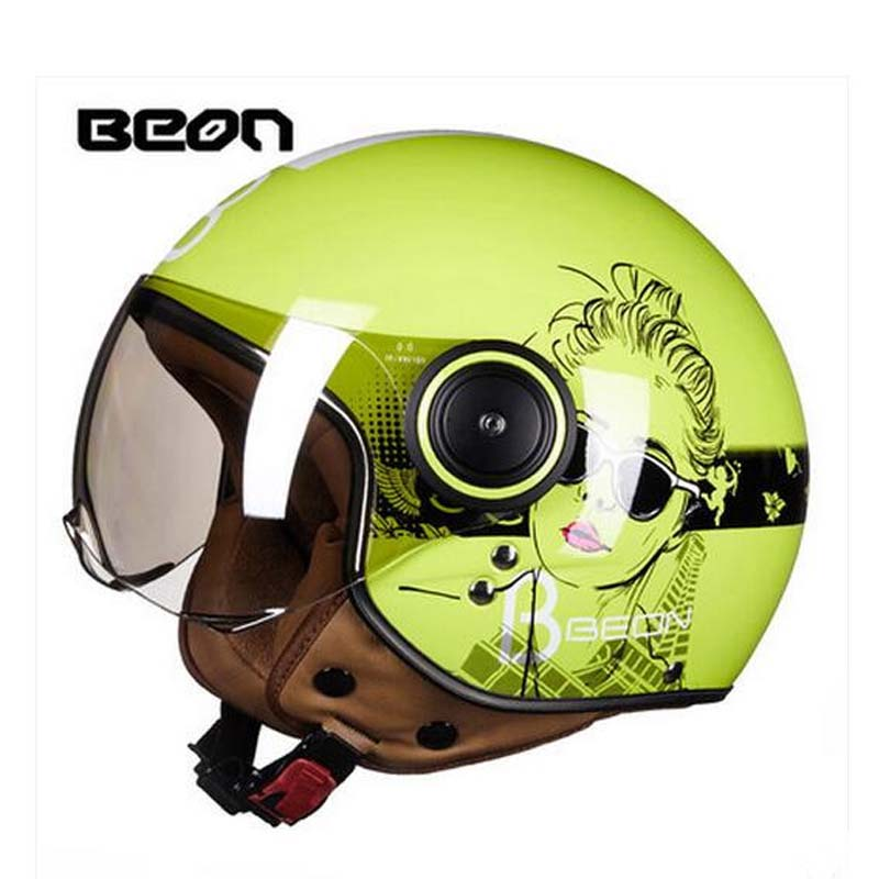 2017 Summer New girl Design BEON half face motorcycle helmet ABS retro motorbike vehicles Motor running helmets four seasons