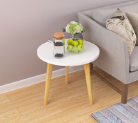LK585 Fashion Solid Wood Coffee Table Nordic Style Slink Tea Desk Simple Installation Portable Sofa Side Table Home Furniture