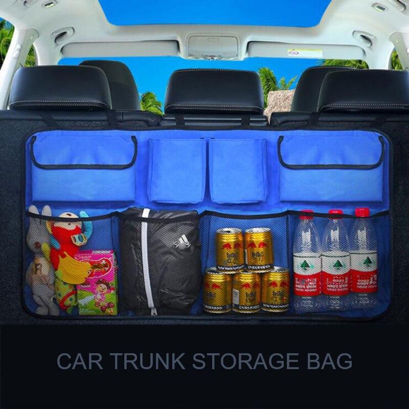 Trunk Organizer Car Backseat Storage Organizer Large Capacity Foldable Backseat Mesh Storage Bag/SUV Net Mesh Storage Stowing Stowing Tidying     - title=