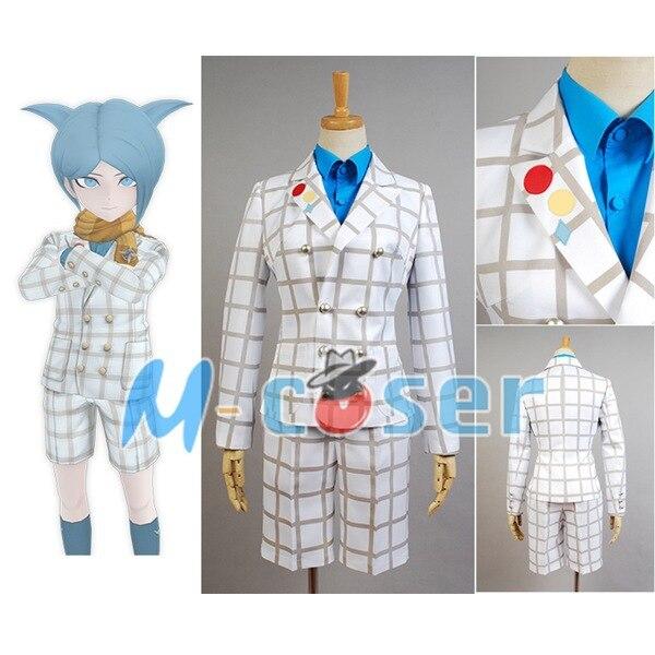 Zettai Zetsubo Shojo: Danganronpa Another Episode Nagisa Shingetsu Outfit Men Suit Uniform Cosplay Costume Full Set