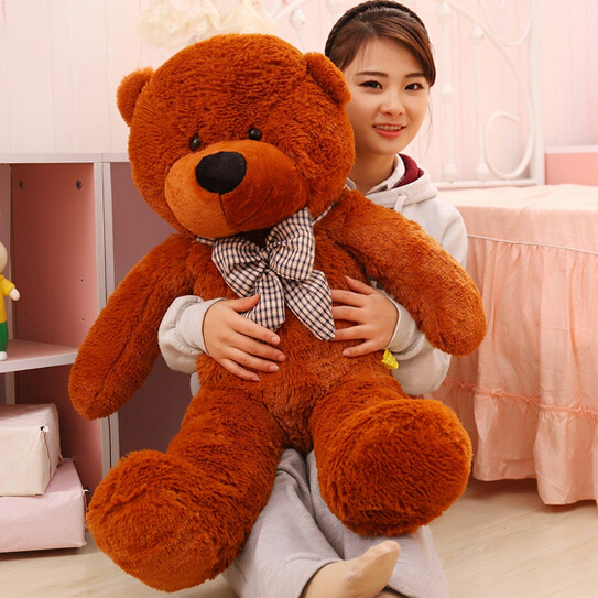 100CM Giant Teddy Bear Plush Toys Stuffed Ted Cheap Pirce Gifts for Kids Girlfriends Christmas P0209E