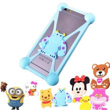 Cute Cartoon Fashion Silicon Mobile Phone Case For Oneplus one A0001 1+ Two 2 Cover Anti-knock Housings 3D Silicone Cases
