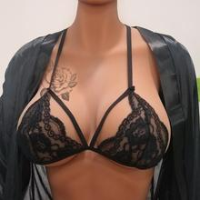 Women's Three-point Lace Bandage Bra Sexy Lingerie