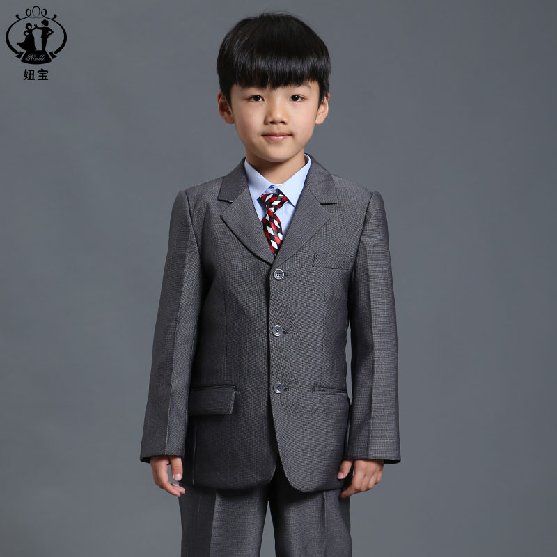 Nimble Suit for Boy Single Breasted Boys Suits for Weddings Costume Enfant Garcon Mariage Boys Blazer Jogging Garcon color block splicing single breasted plus size thicken blazer page 2