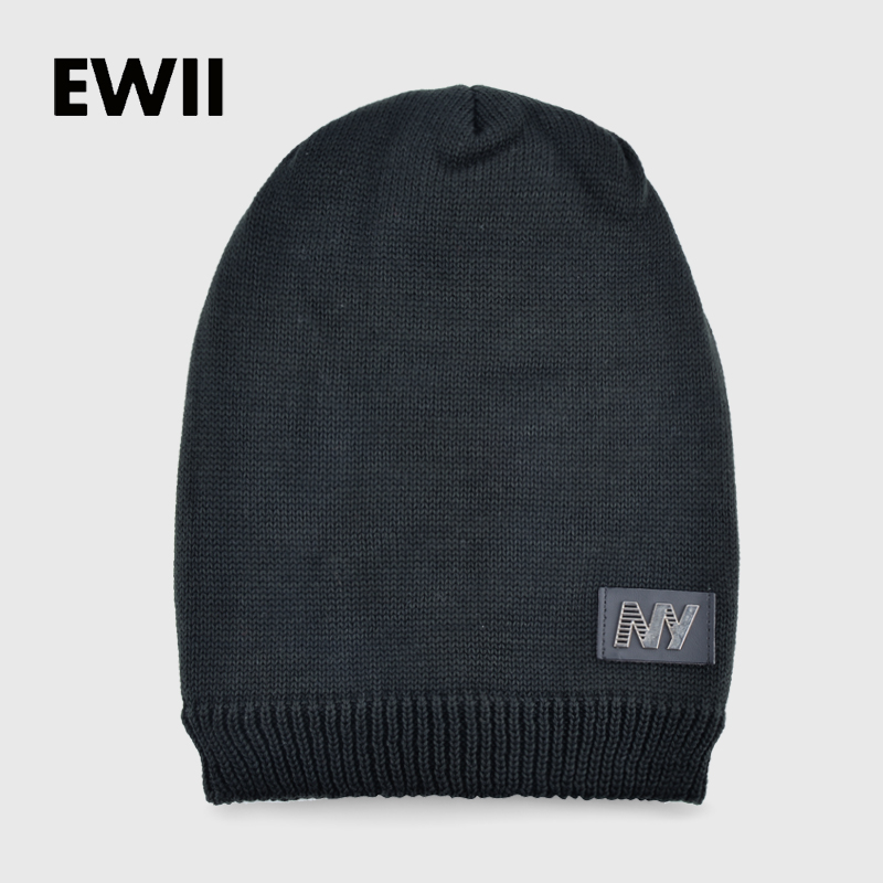 2017 Winter   beanie   hats for men   skullies   boy knitted cap men solid color warm hat bone women   beanies   caps casquette homme