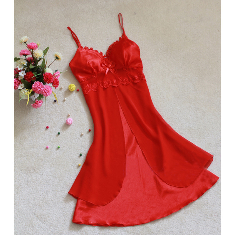 Fashion Sexy Women Lingerie Nightgown Casual Ladies Sleepwear Nightdress Camisola Vestidos Femininos Nightie Women Clothing 36
