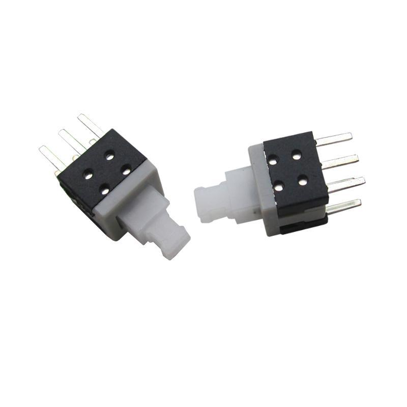 10PCS 6 Pin 5.8mmx5.8mm 5.8*5.8mm Mini Push Rectangle Button Self-locking Switch