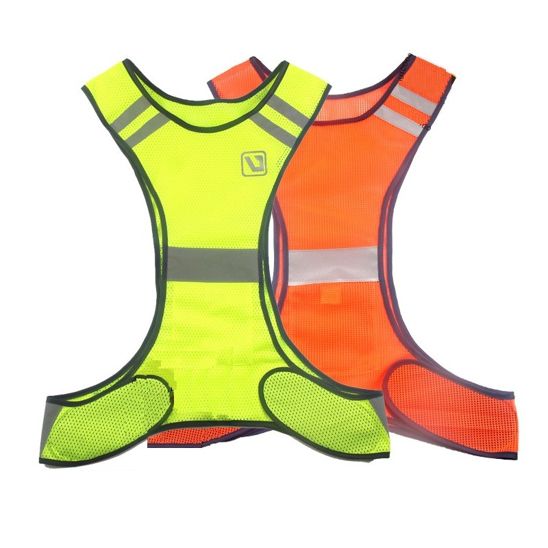 High Visibility Reflective Safety Vest Orange Yellow Fluorescent Security Clothing Gear Supplies For Night Work Running Riding