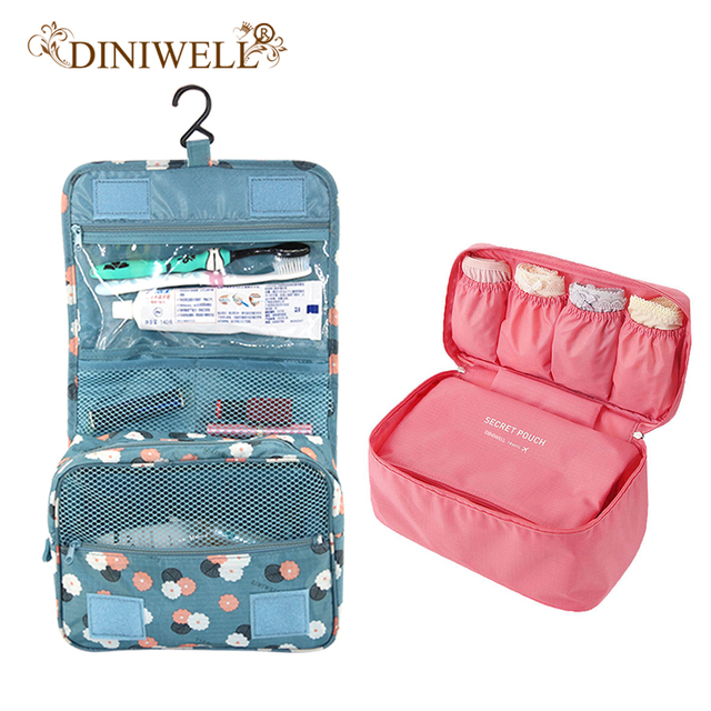 111 Hanging Toiletry Cosmetic Travel Storage Bag Bra Underwear Luggage Handbag Organizer