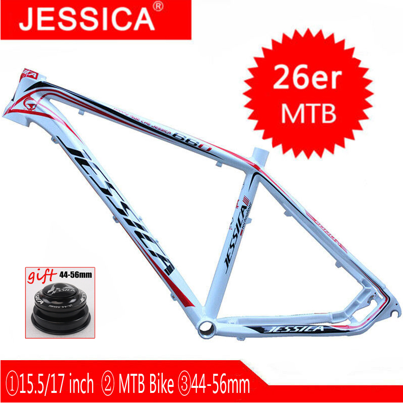 JESSICA 15 5 17 Mountain Bike Frames 26er MTB Bicycle Frame Set Aluminum Frameset 44 56mm