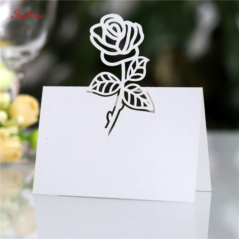 1000pcs laser cut place cards wedding name cards wine