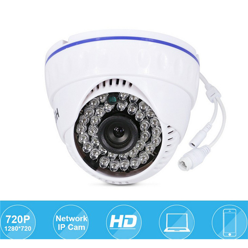 hiseeu Mini Dome Security IP Camera 720P 1.0MP Lens 3.6mm CCTV Security Camera Network ONVIF 2.0 Indoor IR CUT Night Vision P2P 1280 720p 1mp onvif poe bullet ip camera outdoor waterproof p2p ir cut filter network camera mini night vision cctv security cam