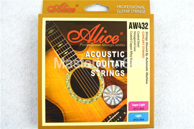 5ea9ef2d041 Alice AW432P-L Acoustic Guitar Strings Plated Coated Copper Alloy Wound  1st-6th Colourful Ball-End Strings Free Shippng