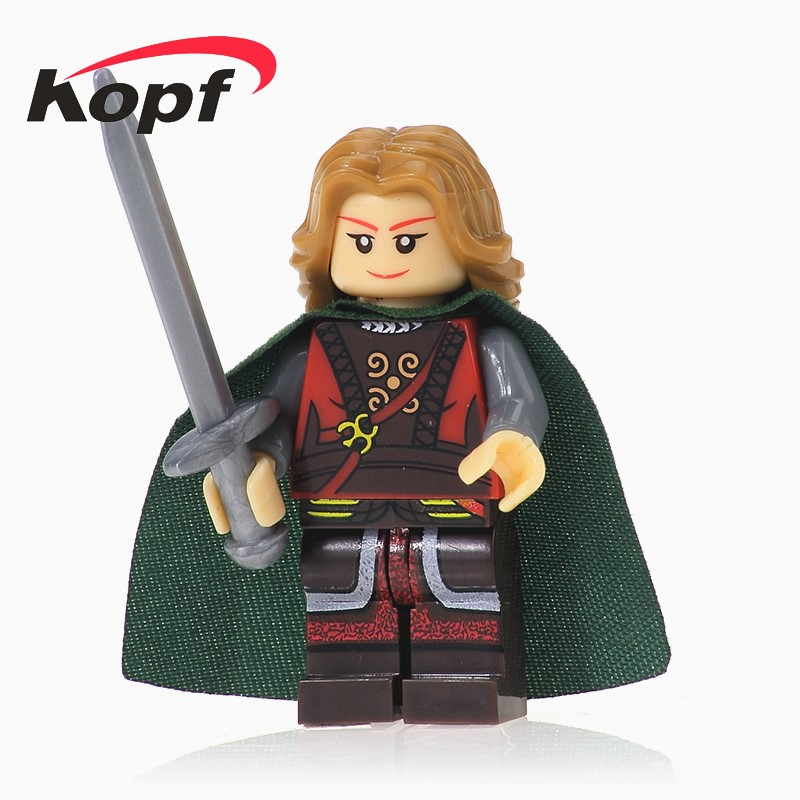 XH 475 Building Blocks Eowyn The Lord of the Rings Hobbit Aragorn Wraith Super Heroes Star Wars Figures For Children Gift Toys single sale myth unicorn toys lord of the rings hobbit horse nazgul with robe bricks building blocks children gift toys x0158