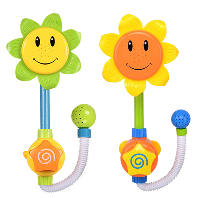 Nova Chegada Lindo Bebê Brinquedos Do Banho Crianças Girassol Chuveiro Torneira Bath Toy Presente Ferramenta de Pulverização de Água FCI #