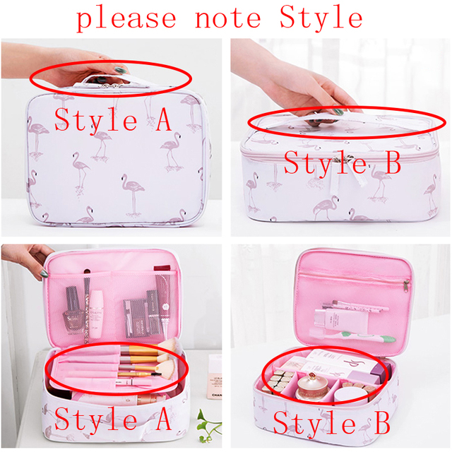 Brand organizer travel fashion lady cosmetics cosmetic bag beautician storage bags large capacity Women makeup bag H127 3