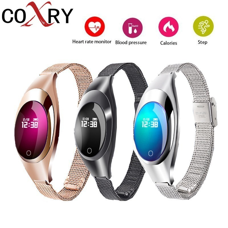 COXRY Smart Watches Blood Pressure Heart Rate Monitor Sleep Pedometer Waterproof Digital Watch Bracelet Sport Watches For Women цена и фото