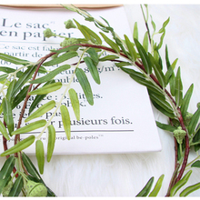 Artificial Willow Leaves Simulated plant rattan leaf wreat  wedding Party Garden home hotel decorative flowers garland