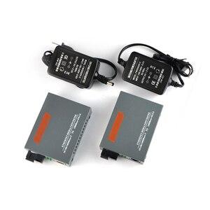 Image 4 - 1 pair HTB GS 03 A/B 10/100/1000M ricetrasmettitore in fibra Modalità Singola Singola Fibra SC Porta 20KM Fast Ethernet Media Converter