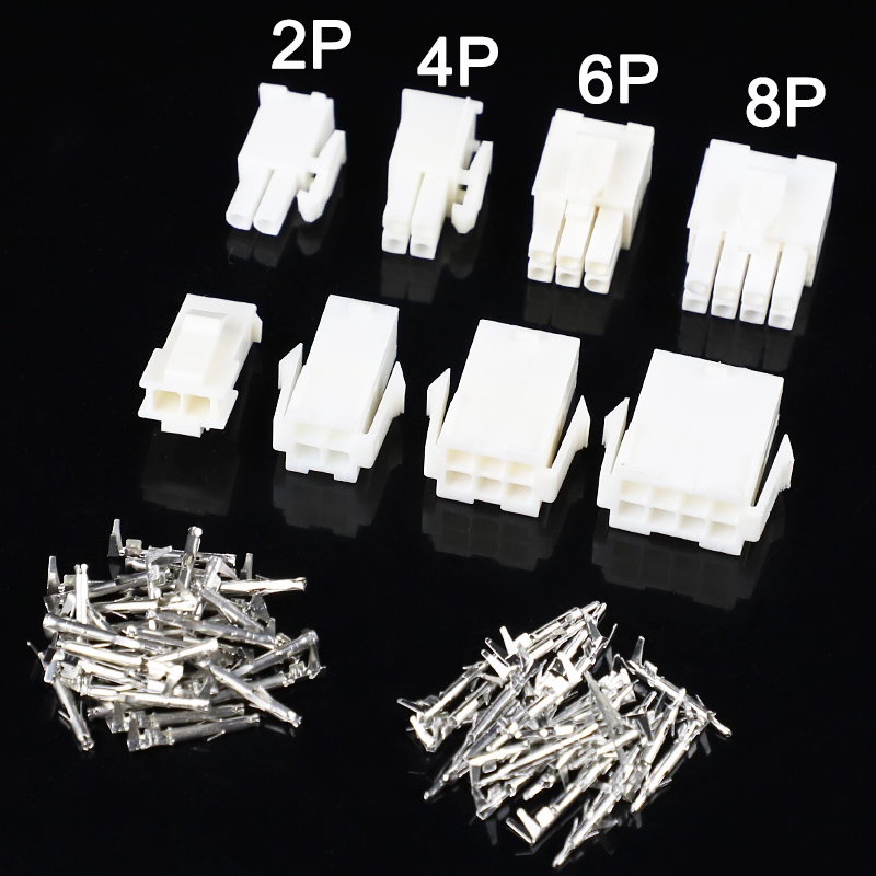 10set/lot 4.14mm 2/4/6/8 Pin Automotive 4.14 Electrical Wire Connector Male Female Cable Terminal Plug Kits Motorcycle Car