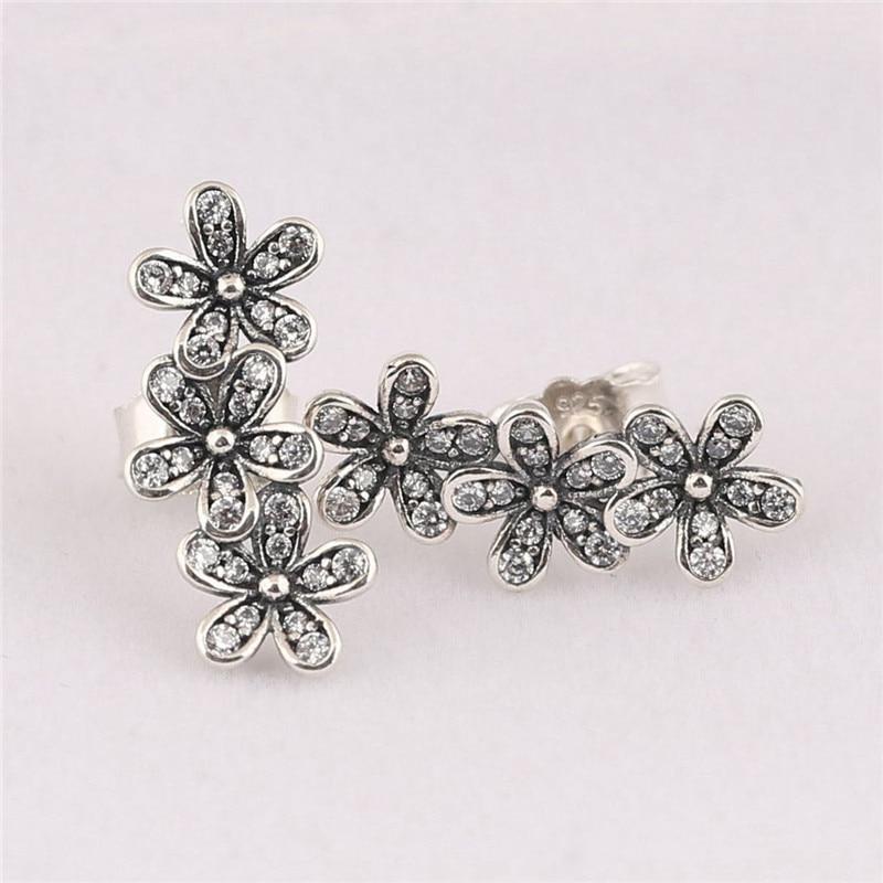 6df693652 Trendy Authentic 925 Sterling Silver Pandora Earrings For Women Dazzling  Daisy Clusters Earring Studs Fine Europe Jewelry Gift-in Stud Earrings from  Jewelry ...