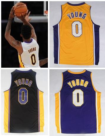 New Material Nick Young Basketball Shirt Basketball Jersey Young