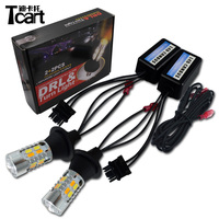 Tcart 2x Auto Led Bulbs DRL Daytime Running Light Night Turn Signals LED Lamp PY21W BAU15S For Mazda 5 2011 2017 Car Accessories