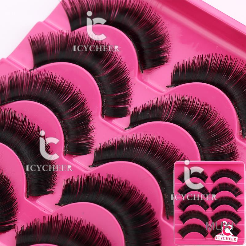 Long Thick 5 Pairs Makeup False Eyelashes Eye Extension ...