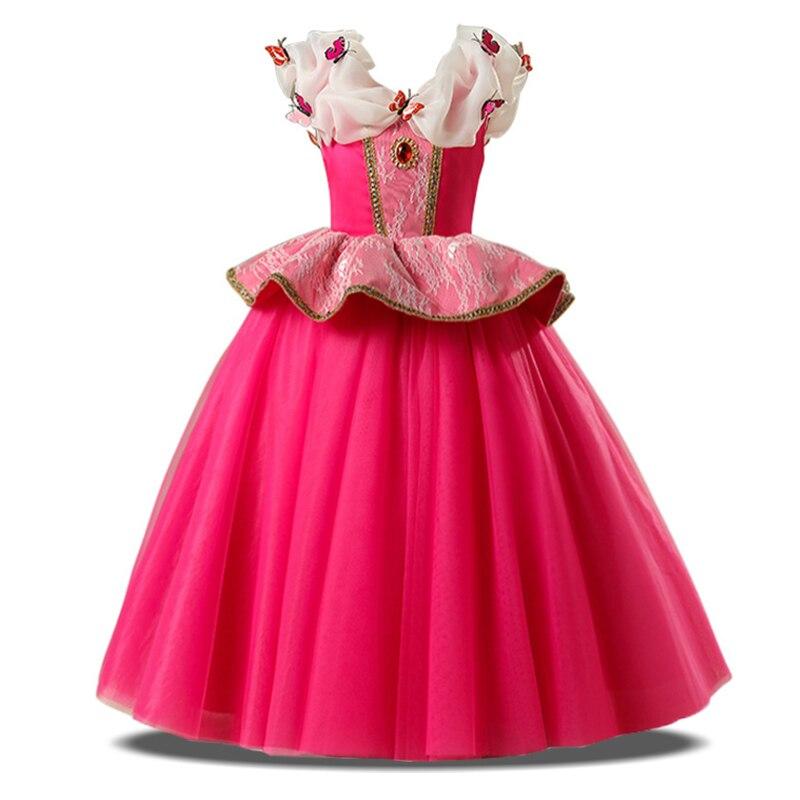 Sleeping Beauty Aurora Children Girl Kid Fancy Dress Cosplay Costume 2-8