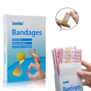 Image 1 - 100pcs/box Waterproof Breathable Bandage Adhesive Wound First aid Hemostasis Antibacterial Band aid Household Patches