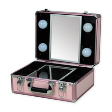 2016 New Type Make up Vanity Box Case Contouring Beauty Kit Gift Set Mirror Storage Box 10 type with yellow or White Light(China)
