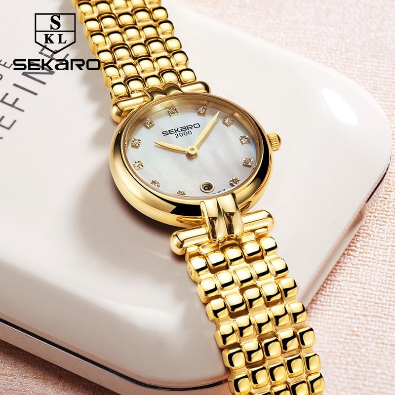 Sekaro Բնական Տիկնայք Ժամացույց Ոսկի - Կանացի ժամացույցներ - Լուսանկար 3