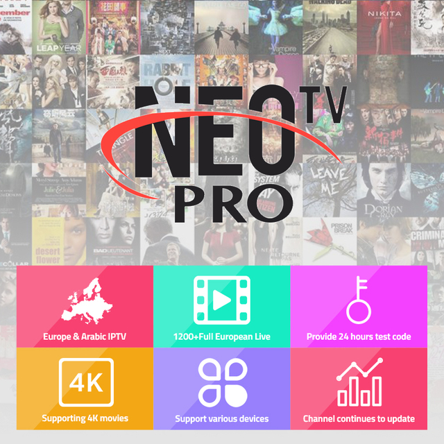 US $44 5  Neotv Pro French Iptv Subscription 1300 Live TV VOD Movie  Channels French Arabic UK Europe Neo One Year Smart TV Mag Box Android-in  Smart