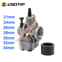 ZSDTRP Universal Motorcycle 4T KOSO KEIHIN OKO Carburetor 24 26 28 30 32 34 mm With Power Jet Fit Race Scooter ATV UTV