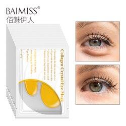 BAIMISS 24K Золотая маска для глаз Коллаген для ухода за кожей лица патчи для глаз нестареющие против старения темные круги увлажняющие отбелива...