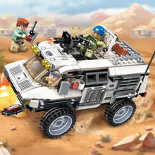 ENLIGHTEN 300Pcs Military War Car Thunder Mission Gatling UN Building Blocks Toys For Children Bricks