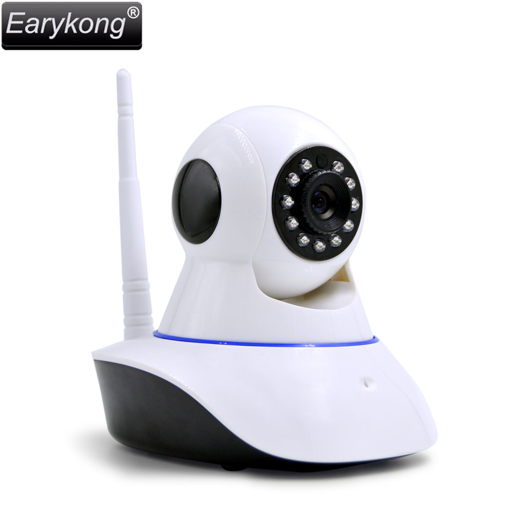2017 Free Shipping IP Camera Wifi Wireless Security 720P Alarm Camera Shaking Head Support Android And IOS APP 2 years Warranty 2016 new tkstar bar mini personal trackerreal time tracking support android and ios platform free web application free shipping