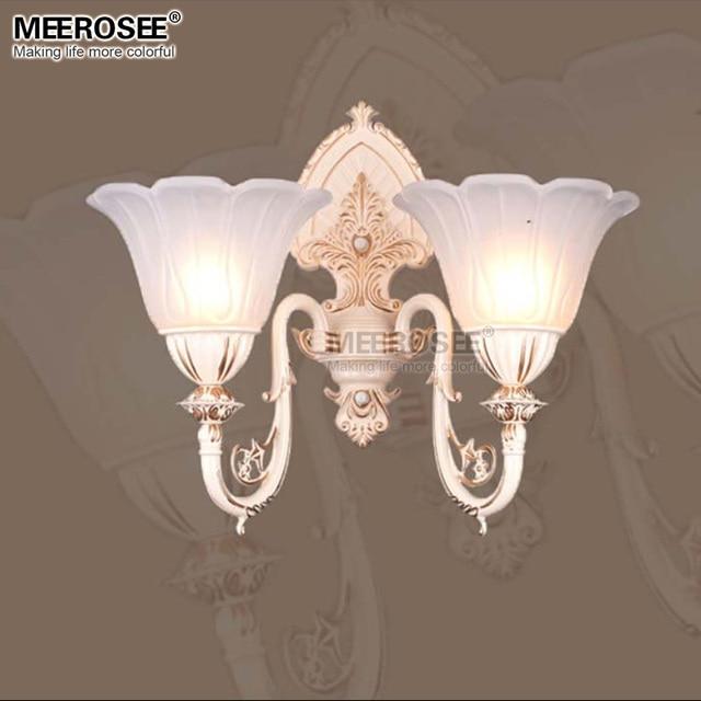White Wall Light Fixtures Gl Vintage Led Bracket Hotel Room Bed Side Lamp W350mm