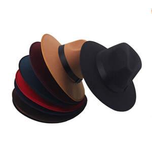 30a8fdc17b6 COSPLACOOL Vintage Women Wool Felt Hat Bowler Fedora