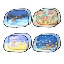 LEEPEE 2 шт. боковое окно экран солнцезащитные очки с присоской автомобиля занавеска ветер экран покрытие лобовое стекло тени автомобиля-Стайлинг
