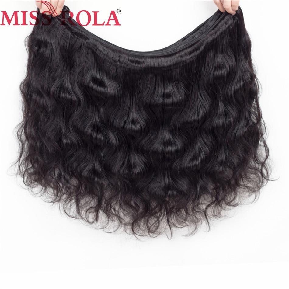 Fröken Rola Hair Pre-Colored Brazilian Non-Remy Hair Body Wave 3 - Mänskligt hår (svart) - Foto 5