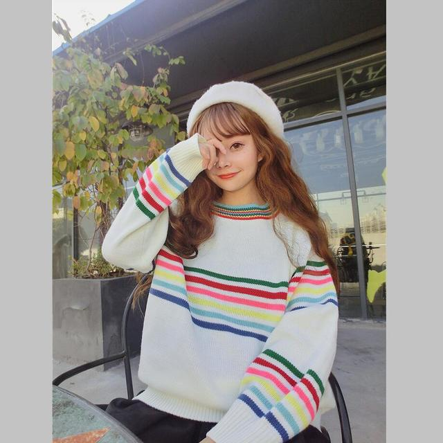 Sweet Rainbow Stripe Sweater