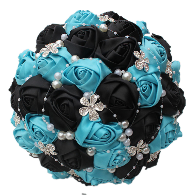 Popular black rose bouquet buy cheap black rose bouquet for Buy black and blue roses