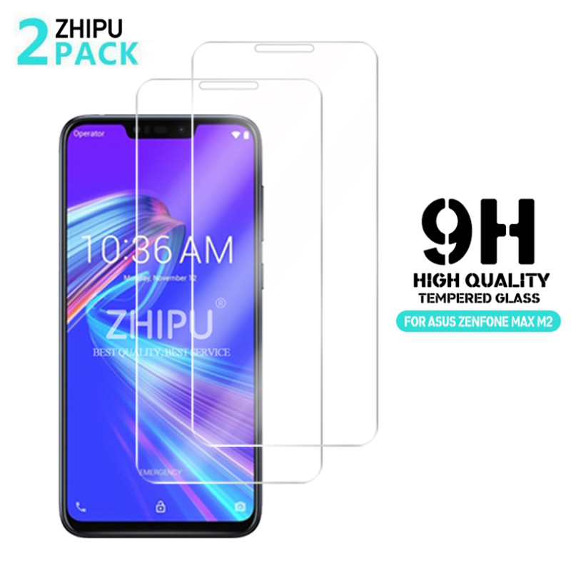2 Pcs/Lot Tempered Glass For Asus Zenfone Max M2 ZB633KL Glass Screen Protector 2.5D 9H Tempered Glass For Asus Zenfone Max M2