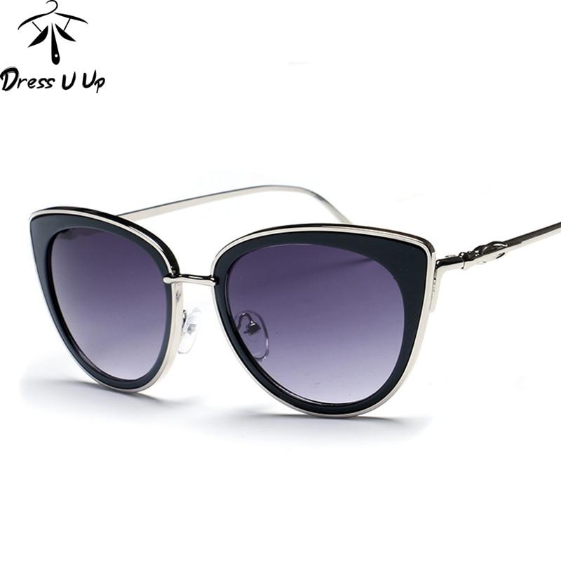 DRESSUUP Nova Moda Olho de Gato Óculos De Sol Das Mulheres Designer de  Marca Do Vintage Liga de Metal Óculos de Sol Óculos de Sol Oculos de sol  Feminino 283440a490